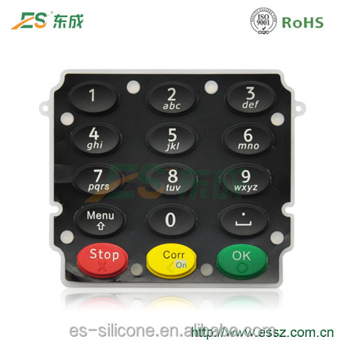 Customizing Molding Silicone Rubber POS Keyboard Rubber Switch Button