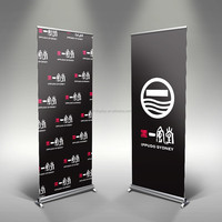 Roll up banner stand, wide base roll up banner