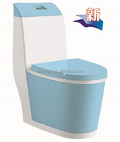 CHAOZHOU sanitary ware factory direct cheaper price blue color ceramic wc toilet