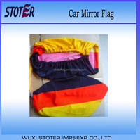 custom Promotional advertising Usage Polyester Car Mirror Flag