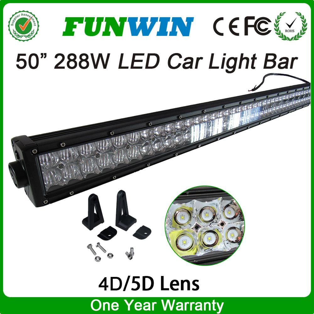 Auto Electrical System 50 Inch 288w Led Driving Light Bar For Car
