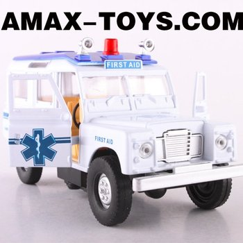 DC-066034S Die cast car 1:43 emulational pull-back ambulance with light