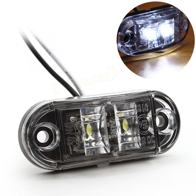 1pc Auto LED Side Marker Light Clearance Lamp 12V 24V E-marked DOT Car Van Truck Trailer Bus Steering light EA10722