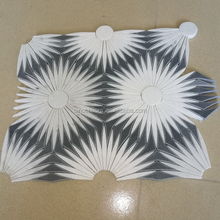 Hot Waterjet Marble Tiles Design Floor Pattern, Tile Floor Patterns Waterjet, WaterJet Mosaic