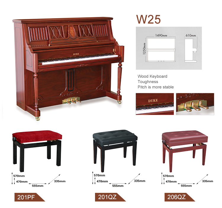 Import musical instruments baby grand piano for sale