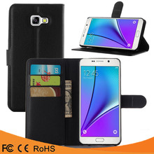 Factory price leather flip case PU back cover case For Samsung Galaxy A510