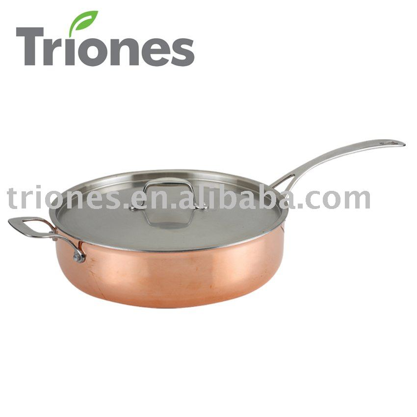 3-ply Stainless Steel Aluminum Copper Saute Pan
