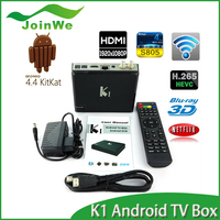 Joinwe Hot-selling Android DVB-T2 Set Top Box AML 805 Android 4.4 DDRII 1GB 8GB Flash K1 Hybrid Android TV Box Wholesale Price