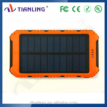 2018 portable solar power bank 8000mah rohs solar charger powerbank