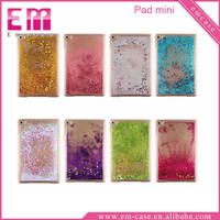 For iPad mini Liquid cover / Liquid glitter case for iPad mini 2 3 4