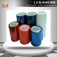 Silicone Coated PET Release Film in transparent, blue, white ,red color