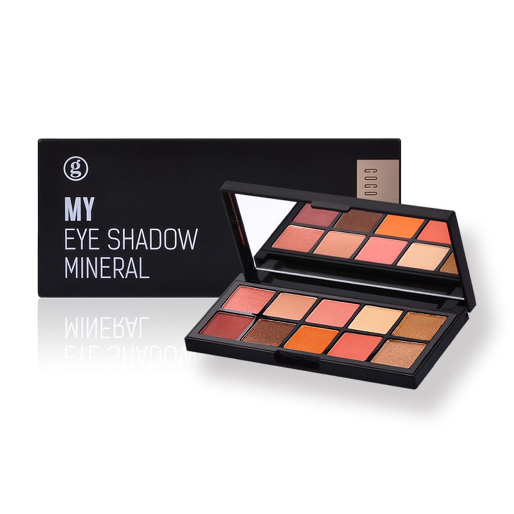 Low Price High Quality 10 Color Makeup Eyeshadow Palette Private Label <strong>Cosmetic</strong> With Low MOQ