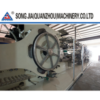 Semi servo high quality disposable baby diaper making machine