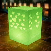 New product fire-retardant floating lanterns paper candle bags