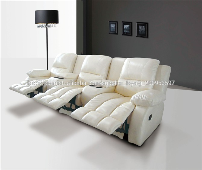 Home cinema sit and lie funtional sofa Germany style leather recliner sofa