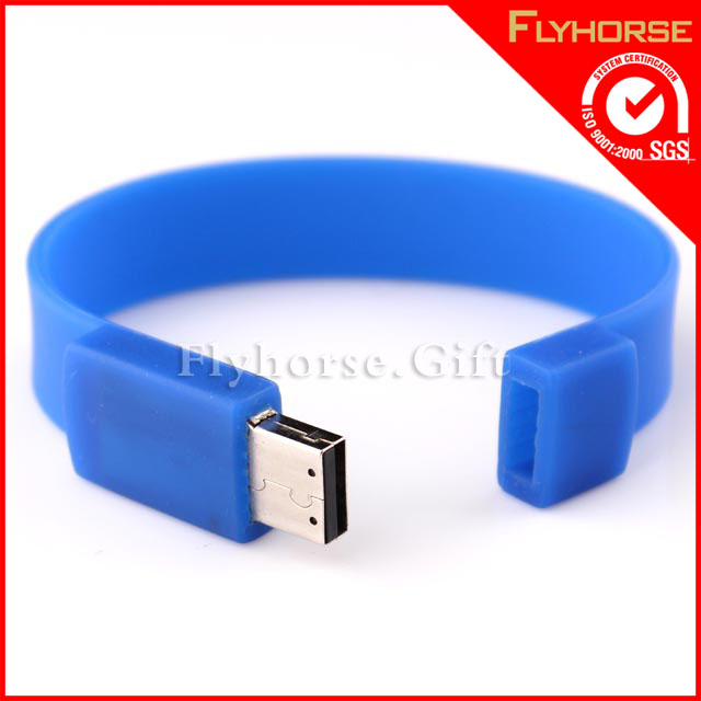 hot sell silicone usb bead bracelet