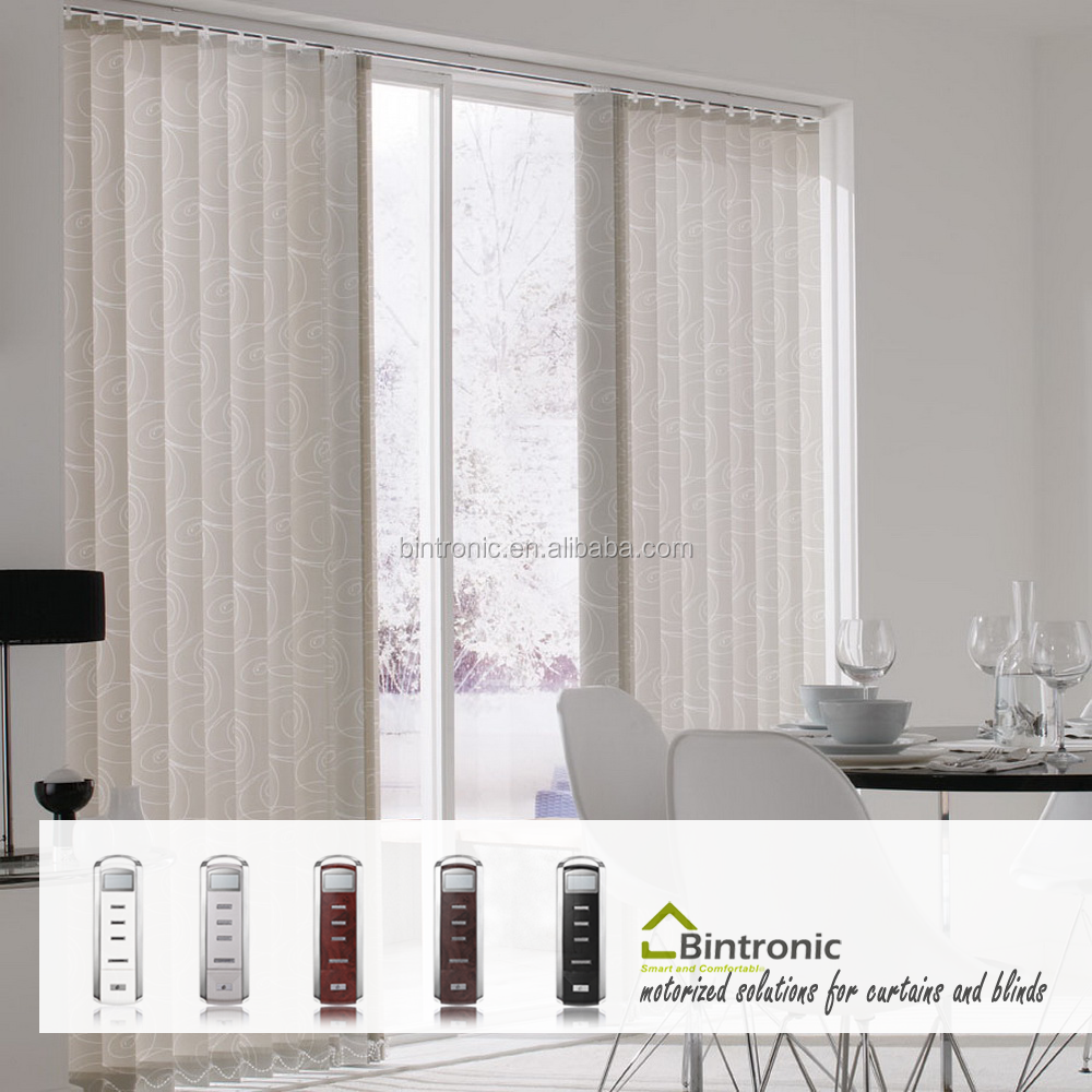 Bintronic Taiwan Motorized Vertical Blind Track Aluminum Headrail Drape And Pole Systems