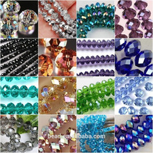 China Yiwu manufacturer fashion faceted rondelle glass crystal beads stands for jewelry