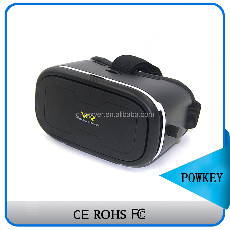 Google hot search vr box for more vivid pokemon games, cardboard newly design virtual headset 3d box