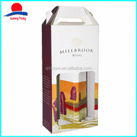 2016 New Products Paper Cardboard Wine Packaging Gift Box