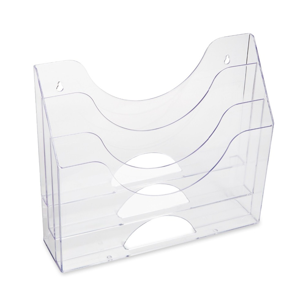 Wall mount desktop acrylic booklet stand brochure paper holder, lucite book display rack paper magazine display holder