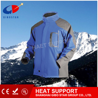 Stock in, blue jacket, far infrared heated element, li battery