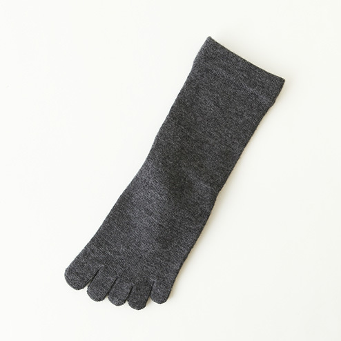 Best Socks Manufacturer Custom OEM Design Woman Comfortable Plain Dark Grey Toe Organic Cotton Knitted Socks