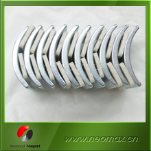 Zinc Zn Coating Arc Segment Sintered Ndfeb Magnets For Arc High Speed Motor