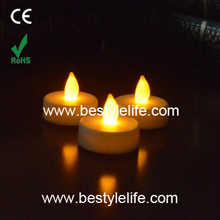 flameless feature and yellow color flickering led tea light