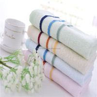 China factory bamboo/ cotton dobby stripe face towel