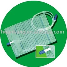 pvc adult 2000ml urine bag with push-pull valve