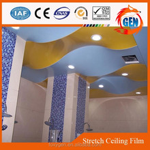 Project colored plastic favorites stretched digital printing ceiling film with 15-year warranty for swimming pools