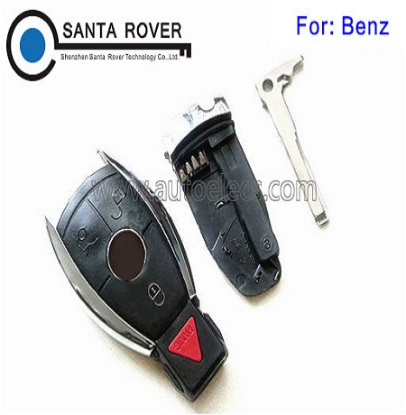 Best Quality Mercedes Benz E C R CL GL SL Chrome Smart Remote Key Case Shell 4B set