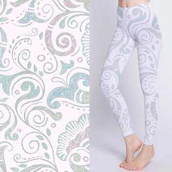 Breathable digital printed stretch abstract pattern fabric for yoga pants