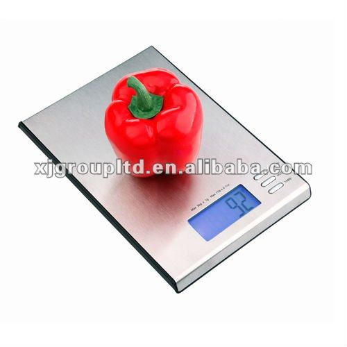 Stainless steel digital kitchen scale LCD display