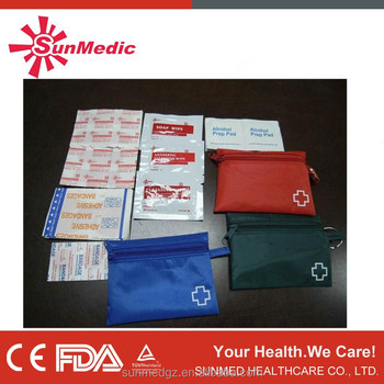 FDA approval mini first aid kit, hotel first aid kit, cute first aid kit