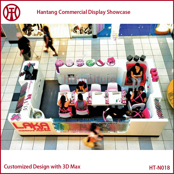 Manicure Table Mall Nail Salon Furniture Kiosk Nail Bar Kiosk For ...