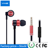 Flat cable headphone handsfree sport high quality wholesale end over ear earphone for smart phone