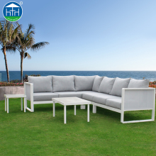 DW-SF113 Patio Furniture Outdoor Aluminum Base Fabric Lounger Sofa Set