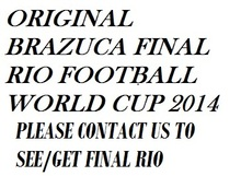 ORIGINAL BRAZUCA final rio WORLD CUP 2014 FOOTBALL/MATCH BALL/SOCER BALL BALOON