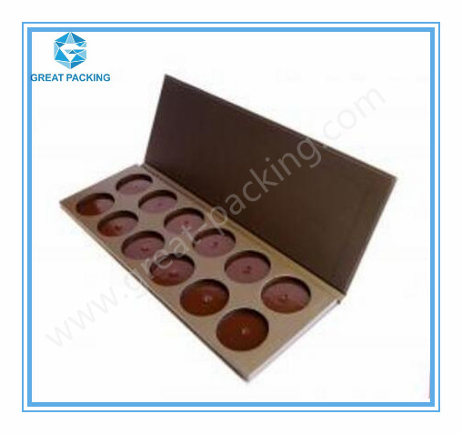Mini Empty Eyeshadow Palette DIY Empty magnetic makeup paper palette for depot
