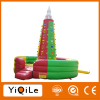 Newest rock toy inflatable, rock climbing machine for children and adults