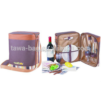 Wine Bag With 2 Person Picnic Set