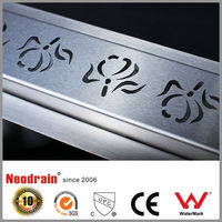 PP PVC PE plastic stainless steel floor drains / shower channel