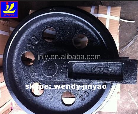 excavator front idler PC160-7, Japan original PC200-6 idler wheel, under chassis parts PC220-7 idler roller