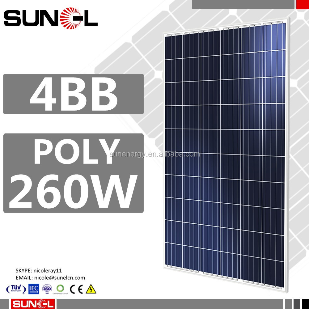 pv solar panel price 260w 260 watt by muti crystalline solar cell 156x156