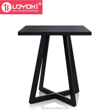 modern Black round and square shape Wooden Side Table high quality home furniture end table