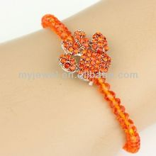 "Fashion Stretch ""Paw"" Bracelet-FC-6607-3HY fashion fabric bracelets"