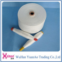 China supplier 40/2 20/2 20/3 50/2 50/3 60/2 60/3 Raw White 100% Polyester Sewing Thread