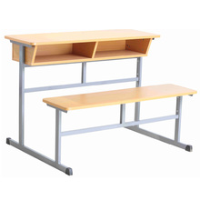Single terrace classroom school chair with desk attached